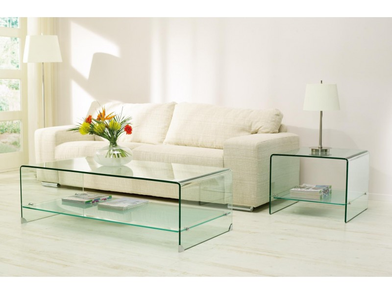 salontafel van glas