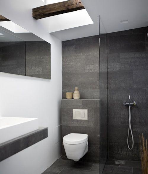 Moderne badkamer voorbeelden en idee n - Moderne badkamer tegelvloeren ...