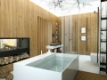14-Chic-bathroom-fireplace-600x399