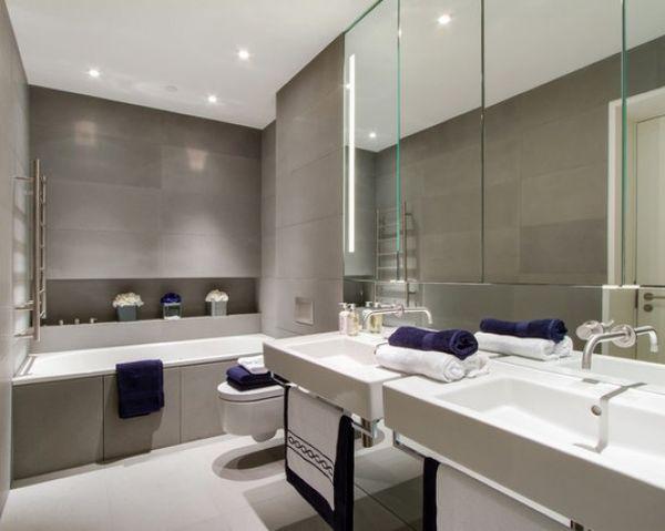 Idee n - Moderne badkamer tegelvloeren ...