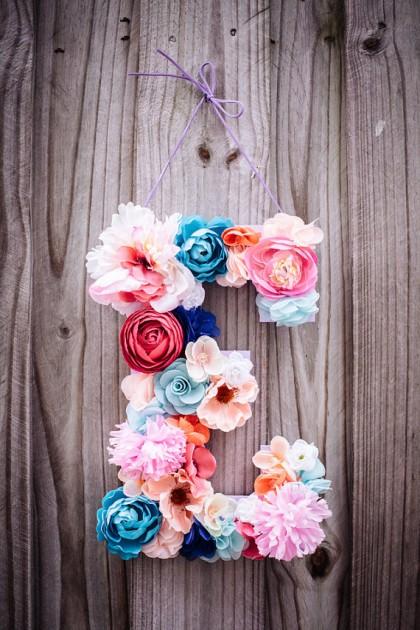 Bloemen letters zelf maken doe je zo!