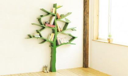 Houten letters en houten boom voor de kinderkamer!