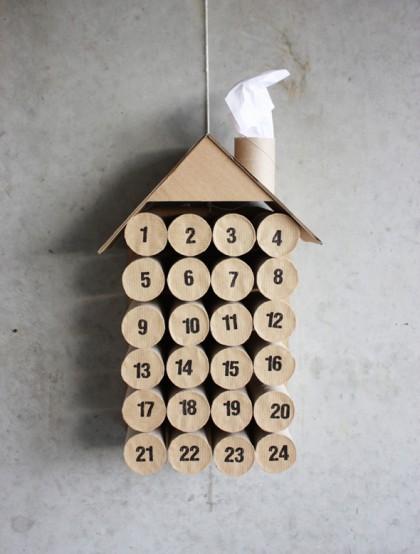 DIY: Een kalender van toiletrolletjes
