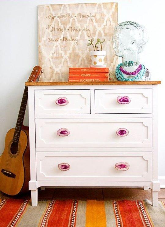 DIY meubel wit/roze